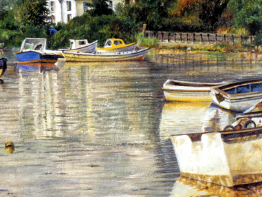 Boats Moored in Lymington Harbour