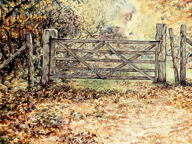 Gate to Bartley Lodge in the New Forest