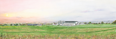 Epsom Downs at Sunset, with Glimpses of London