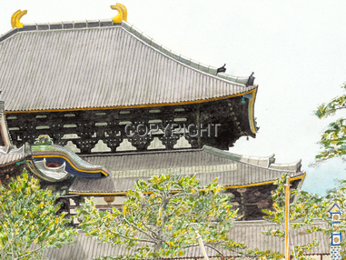 Todaiji Temple in Nara, Japan