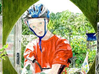 Cyclist Pit Stop at Fanny's Farm Shop