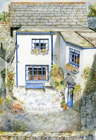 Polperro Cottage Courtyard