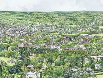 View of Dorking from Box Hill
